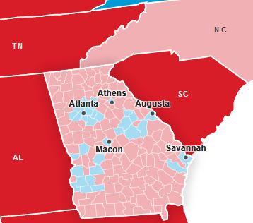 Georgia US 2020 Election results